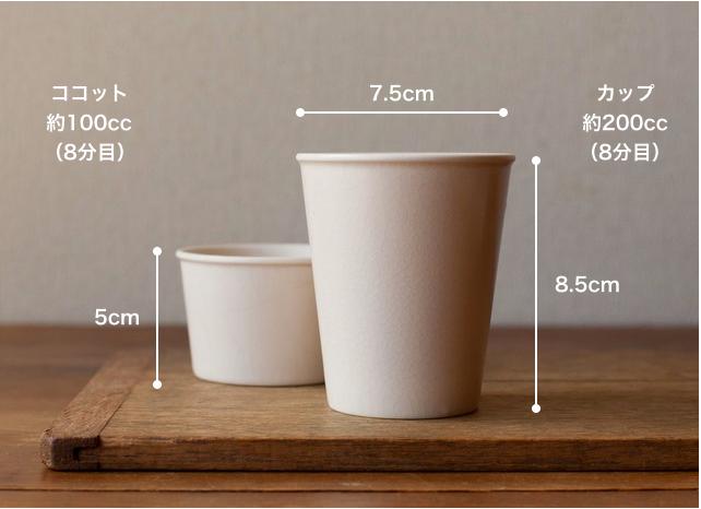 4th-market ミルカップ ココット サイズ