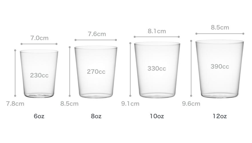 サイズと容量 コンパクト Mタンブラー