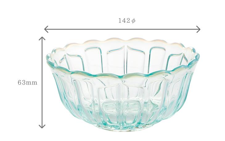 サイズと容量 雪の花 洗鉢7