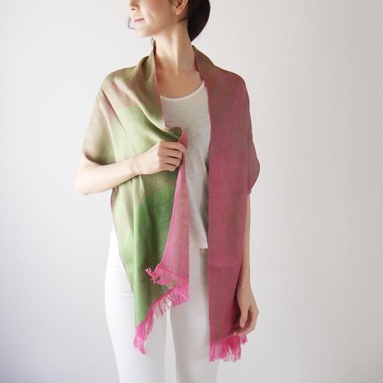 母の日 贈り物 ギフト 女性 ストール コントラスト シルキー 工房織座 日本いいもの屋