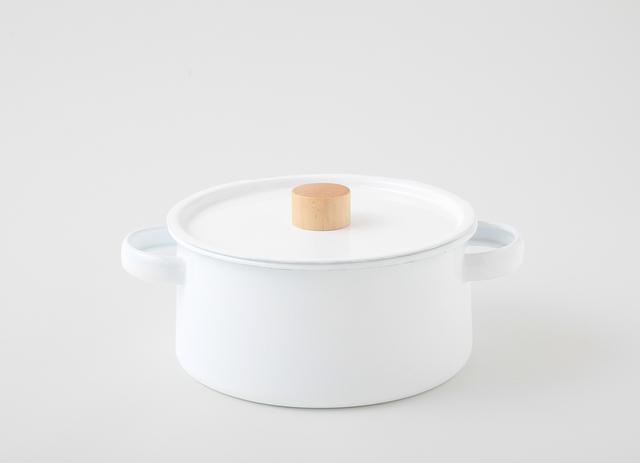 琺瑯の両手鍋 kaico