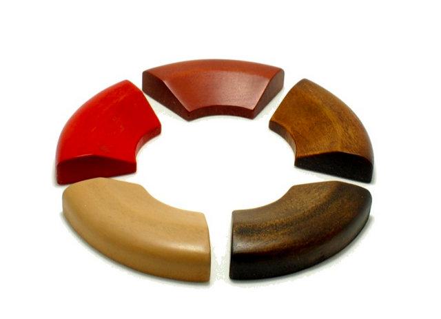 箸置「輪」 拭漆仕上げ 定年退職 還暦のお祝い 日本いいもの屋