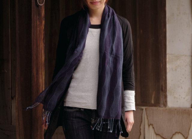 女性への贈り物 ゆらぎ織りマフラー 工房織座 日本いいもの屋