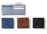 hmny 二つ折り革財布