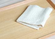 ガラ紡の布巾 木玉毛織
