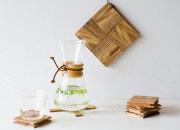 RetRe 虫喰い楢材の鍋敷き 卒業 就職のお祝い 日本いいもの屋