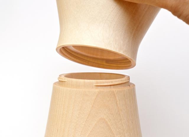 コーヒーミル モクネジ 3条ねじ構造