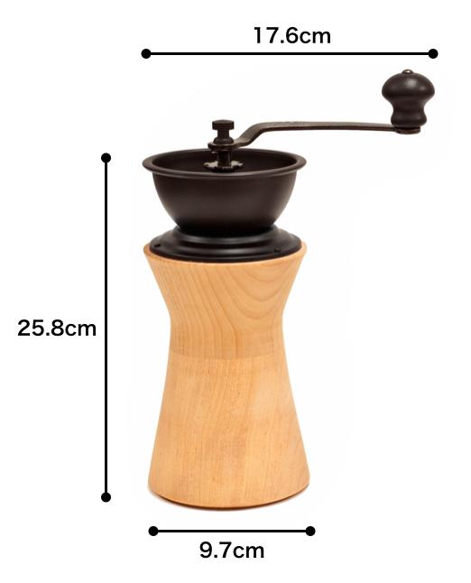 コーヒーミルサイズ