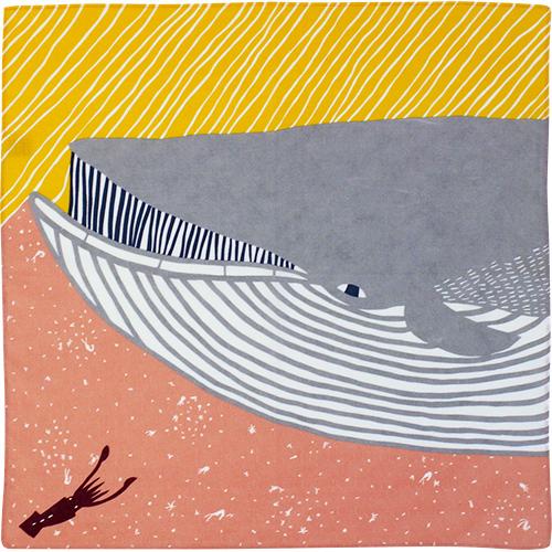 むす美風呂敷 katakata ナガスクジラ