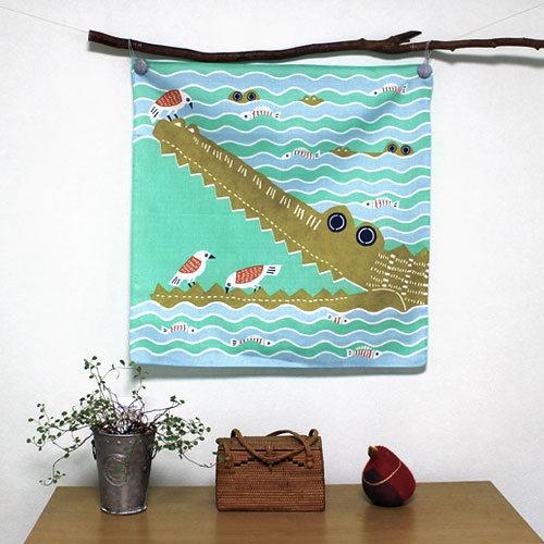 むす美風呂敷 katakata ワニ