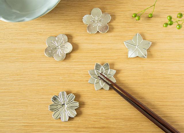 能作 箸置 花ばな 引出物 日本いいもの屋