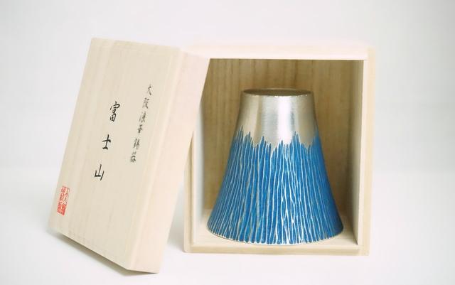 大阪錫器 錫製のタンブラー 富士山