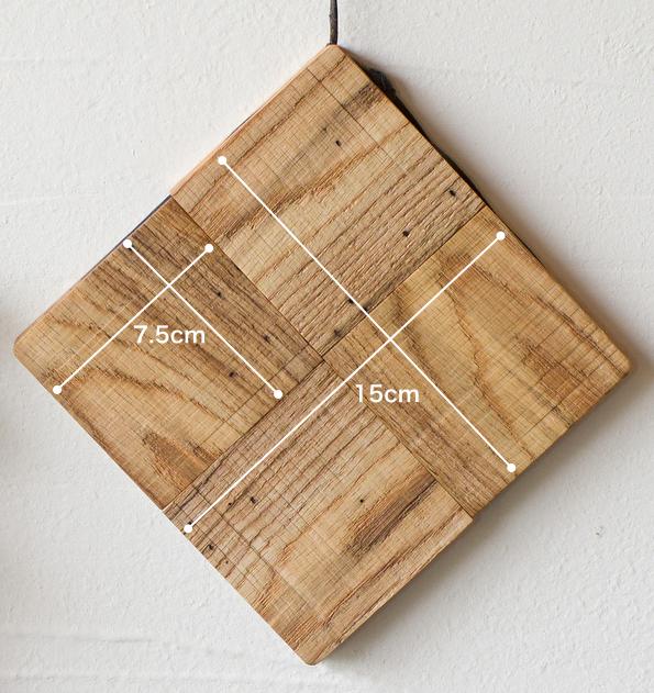 虫喰い材の鍋敷きサイズ