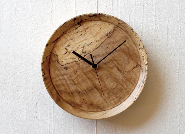 男性への贈り物 虫喰い材の壁掛け時計 RetRe
