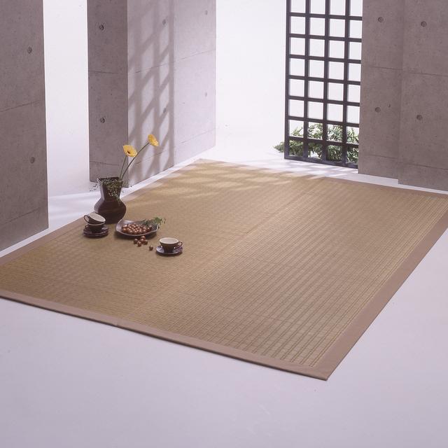 掛川織のラグ 優雅 ベージュ