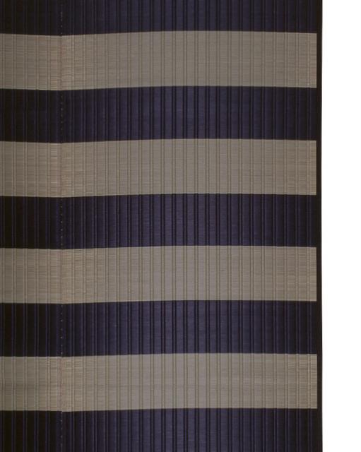 掛川織のラグ ピアストール ブラック