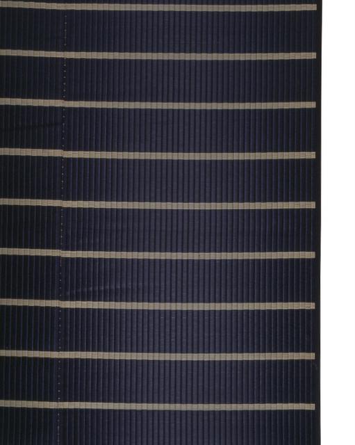 掛川織のラグ ピアスモール ブラック