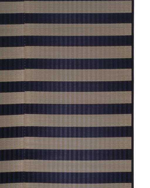 掛川織のラグ ピアミット ブラック