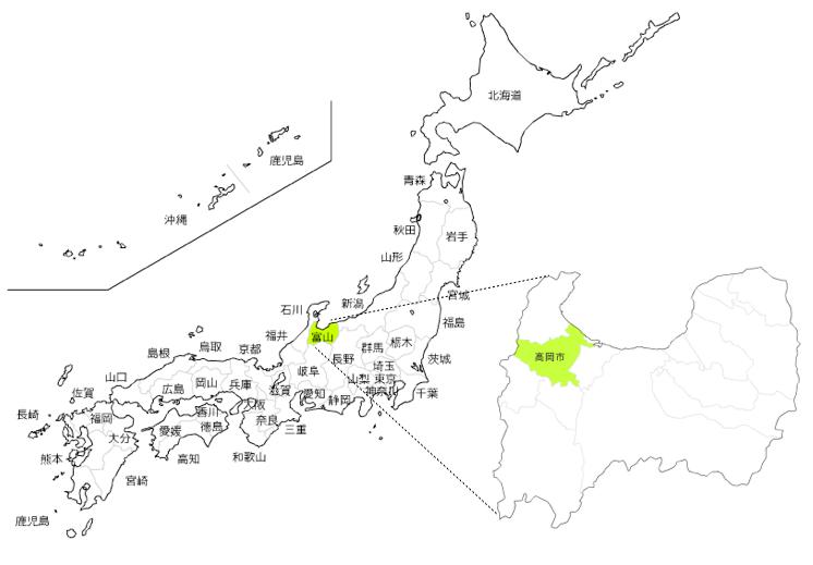 高岡市map