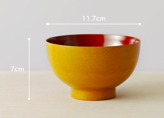 内塗り椀のサイズ